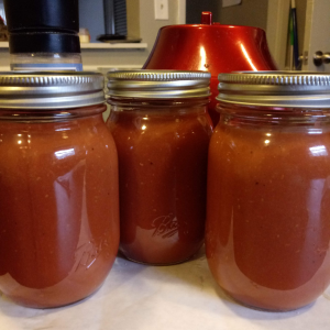 Three jars of raspberry vinaigrette made by Family's Favorite Foods