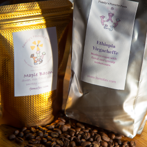 Freshly roasted single origin and flavored coffees by Family's Favorite Foods